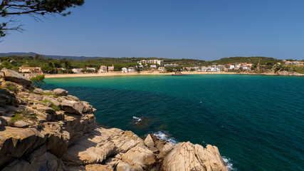Beautiful bay in Costa Brava, village La Fosca in Spain