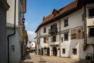Old building in the old town of Skofja Loka, Slovenia
