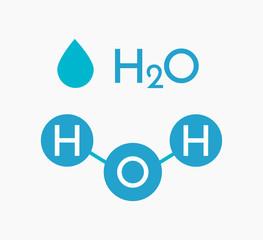 Water molecule H2O compound