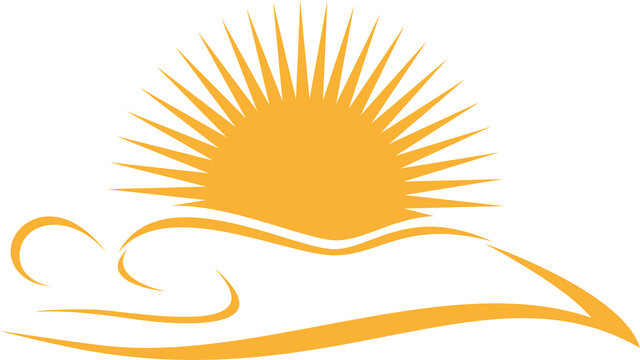 Person und Sonne, Sonnenstudio, Solarium, Zeichen