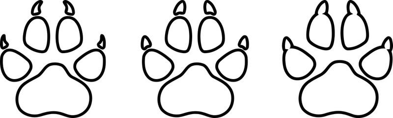 Wolf Pfote, Hunde Pfote, Aufkleber Label, Logo, Zeichen