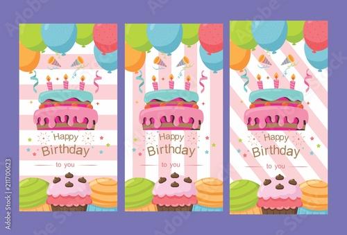 Beautiful Pack Of Happy Birthday Card