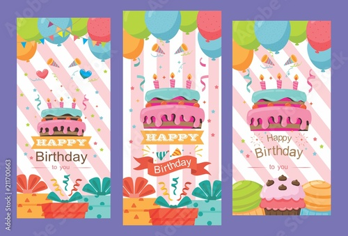 Beautiful Pack Of Happy Birthday Card