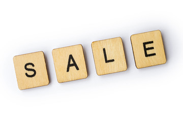 The word SALE