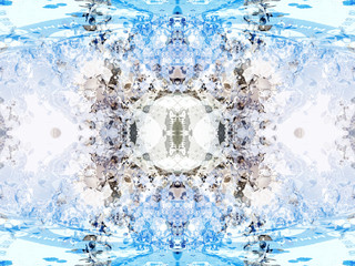 Symmetric Abstract 3D Texture, Art Pattern