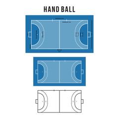 Handball Court Vector Illustration