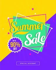 Summer Sale vector illustration