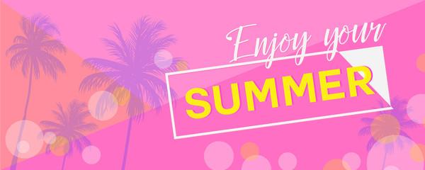 Enjoy summer banner
