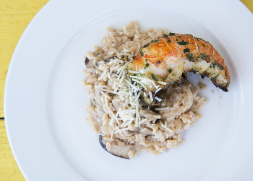 grilled Lobster with risotto