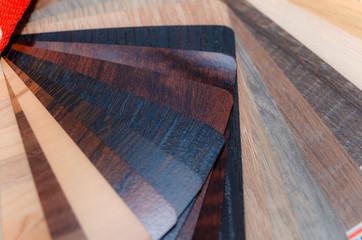 Samples of furniture materials