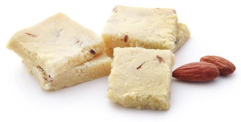 Tasty almond barfi