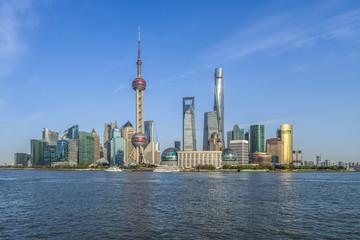 Shanghai skyline in sunny day, China.