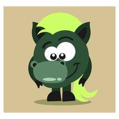 cute little donkey horse mascot cartoon character