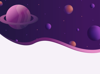 background with bright colors and space theme