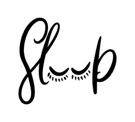 Sleep hand drawn vector letterting.