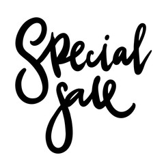 Special offer Sale black ink isolated on white background.