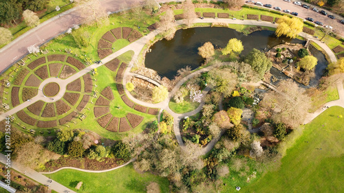 """Roses In Garden: """"Aerial Drone Bird's Eye View Photo Of Iconic Regent's"""