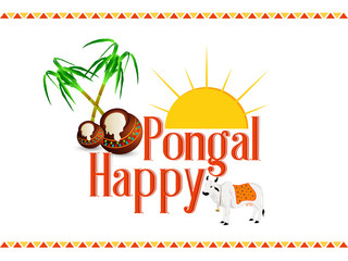 nice and beautiful abstract or poster for Pongal with nice and creative design illustration.