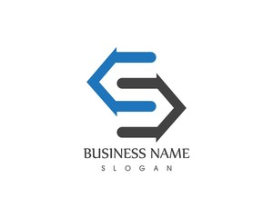 S letter business icon logo design concept