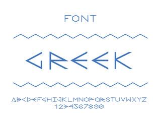 Greek font. Vector alphabet letters