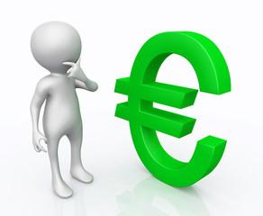 3D Figur mit Eurozeichen