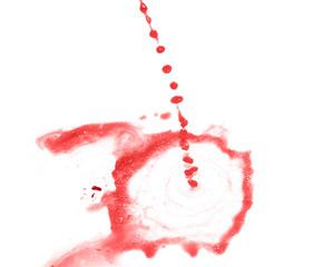 Splash of liquid in motion isolated