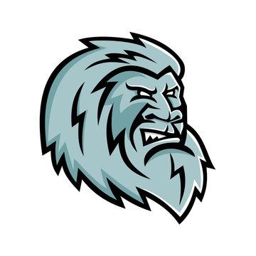 Yeti Head Mascot