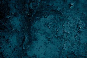 Alte blaue Oberfläche mit abgeplatzter Farbe