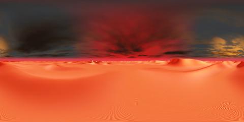 360 Grad Panorama mit einer futuristischen Wüstenlandschaft