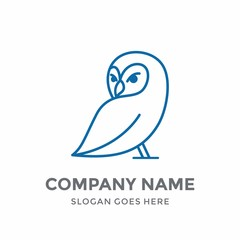 Owl Education Vision Succes Elegance Luxury Children Line Bird Cute Animal School Nature Logo Design Vector Icon Template