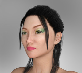 Pretty Asian woman with Make-up