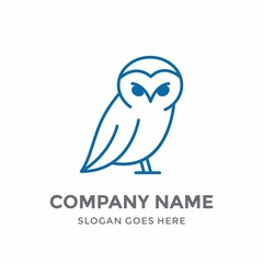 Owl Education Art Learning Children Elegance Luxury Line Bird Cute Animal School Nature Logo Design Vector Icon Template