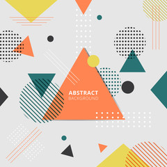 Abstract geometric colorful style background.