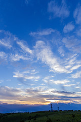 高ボッチ高原の夕景