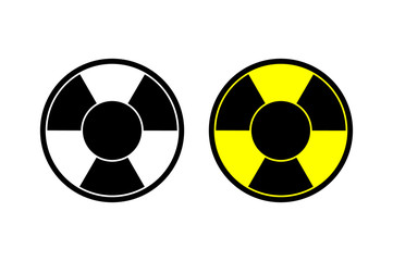 Nuclear vector icon Radiation hazard sign alert danger symbol. Web site page and mobile app design vector element