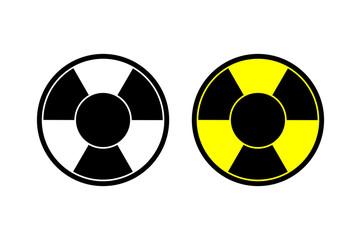 Nuclear vector icon Radiation hazard sign alert danger symbol. Web site page and mobile app design vector element