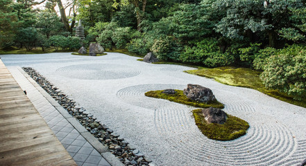Foto op Canvas Asia land Zen garden in Japan