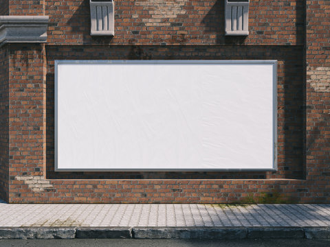Outdoor Poster frame Mockup. 3d illustration