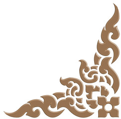3D Thai pattern carve