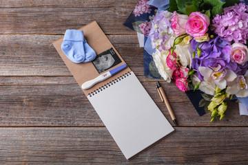 Diary of pregnancy. Still life.