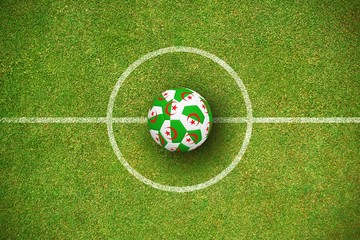 Composite image of football in algeria colours