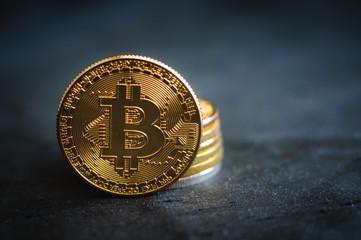 stack golden bitcoin