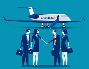 Transportation business. Concept business technology vector illustration. Flat design style.