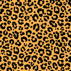 background texture repeating seamless pattern leopard jaguar orange