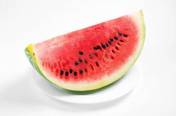 Slice of juicy watermelon