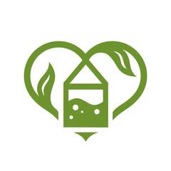 Love green Tea sign