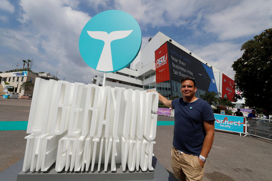 Whalar CEO Neil Waller poses at the Cannes Lions International Festival of Creativity in Cannes