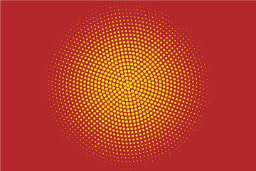 Red Halftone Circle Background