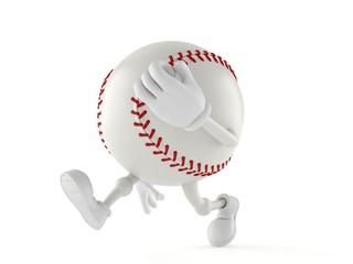 Baseball character running