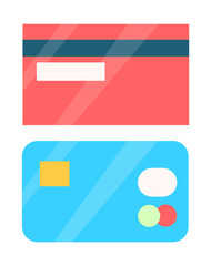 Wall Mural - Credit Cards Collection Object Vector Illustration